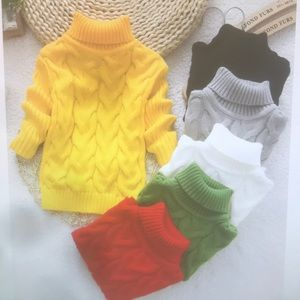 Kids turtleneck knitted sweaters